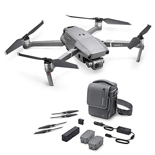 DJI Mavic 2 Pro (UK) - Drone Mavic 2 Pro + Mavic 2 Fly More Kit Combo, Quadcopter with Hasselblad Camera HDR Video, Accessories for Mavic 2 Pro Drone Included, Flight Battery, Propellers and Others
