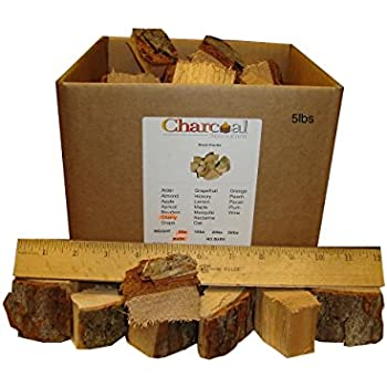 CharcoalStore Cherry Smoking Wood Chunks - Bark (10 Pounds)