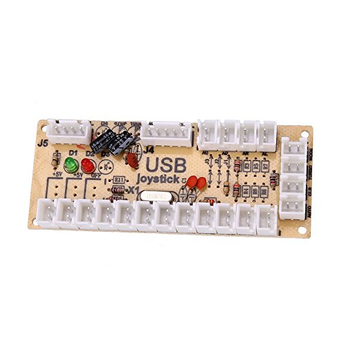 Hanbaili USB Encoder PC to Joystick Board +Cable Cord For Arcade Game Player Machine