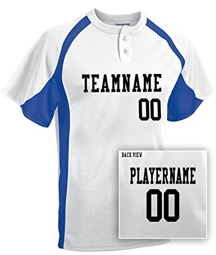Adult Custom Baseball 2-Button Jersey, Personalize with YOUR Names & Numbers-S