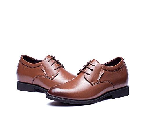 LEDLFIE Chaussures de Sport en Cuir pour Hommes brown G0X6YVX