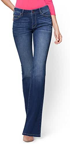 New York & Co. Women's Soho Jeans - Curvy Bootcut - Force Blue Wash - Petite