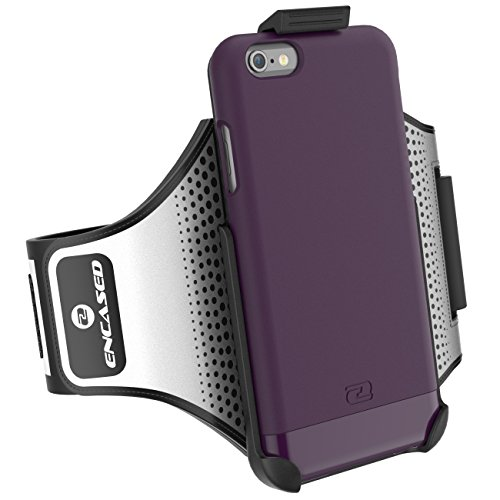 Encased iPhone 6 / 6S Armband Set - Lightweight (Clip-N-Go) Workout Sport Arm Band with Slim Case for Apple iPhone6 6S - Purple (Lights Set Sports Novelty Light)