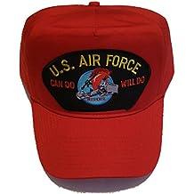 USAF CHARGING CHARLIE RED HORSE Veteran Hat - Red - Veteran Owned Business