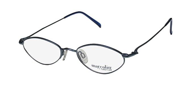 2a837624a4 Marcolin 2031 Mens Womens Designer Full-Rim Shape Titanium Light Weight  Classy Eyeglasses