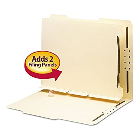 SMD68025 - Smead 68025 Manila Self-Adhesive Folder Dividers with Twin Prong Fastener - Manila Divider