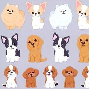 Pegatinas kawaii de animales con perros cachorros de Q-Lia