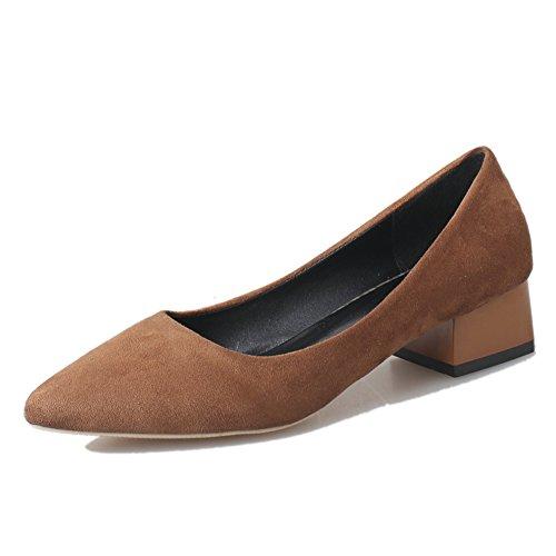 Áspera primavera moda casual zapatos de las mujeres/zapatos de gamuza puntiagudo asakuchi pie/Zapatos de mujer D