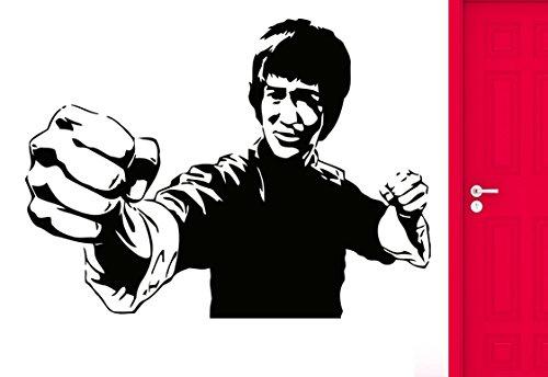 DesignToRefine Wall Sticker Movie Star Jackie Chan Martial Arts Karate Cool Cool Decor (z2570)