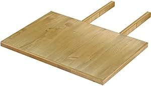 Brasilmöbel - Tablero de extensión para mesas Rio Classico y Rio Kanto, varios tamaños y colores disponibles, pino, Brasil, L/B/H: 50 x 73 cm