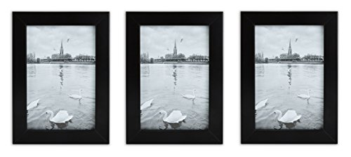 Golden State Art Set of 3, 4x6 Wood Picture Frame, Simple St
