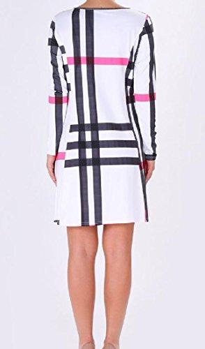 Plaid Del Moda Tasche Vestito Vestito Donne Vita Partito Coolred Vintage Da White2 fZqvgfxCw