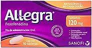 Allegra Antihistaminico 120mg, 10 Tabletas