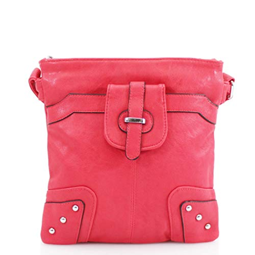 Small Messenger Pocket Multi Craze Women's Handbags Trendy Long Bag Womens London Red strap XqBwFvnwO