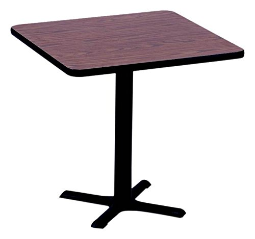 Top 24in Square (Correll BXT24S-07 Black Granite Top and Black Base Square Bar, Café and Break Room Table, 24