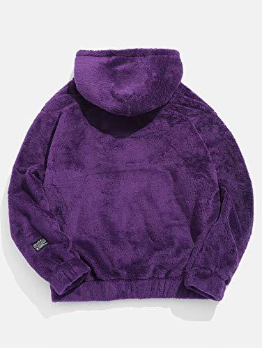 Zaful Violet À shirt Homme Capuche Manches Sweat Longues fxqUaCf7w