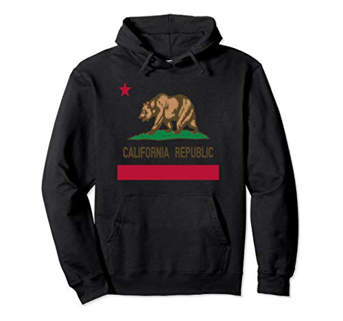 California Republic State Flag 1846 Vintage Hoodie