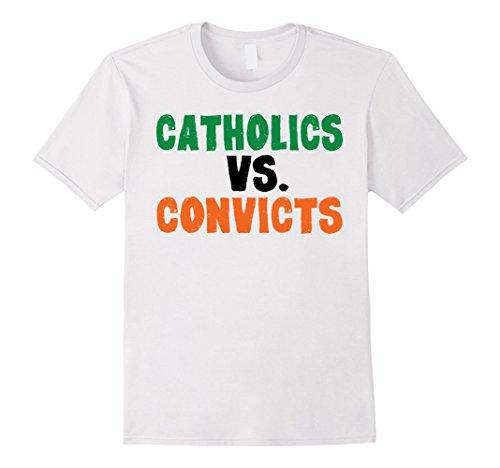 Mens Catholics Vs. Convicts 1988 T-Shirt Cool Footbal Retro Shirt XL (Mens Cool Onesies)