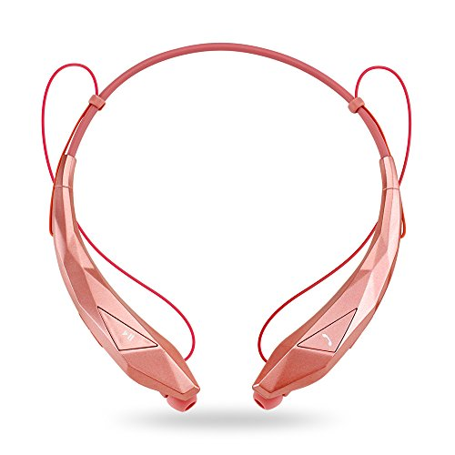 Oct17 Wireless Sport Stereo Bluetooth Headphones Diamond Universal Earphones Running or Workout Driving Gym Headset - Rose