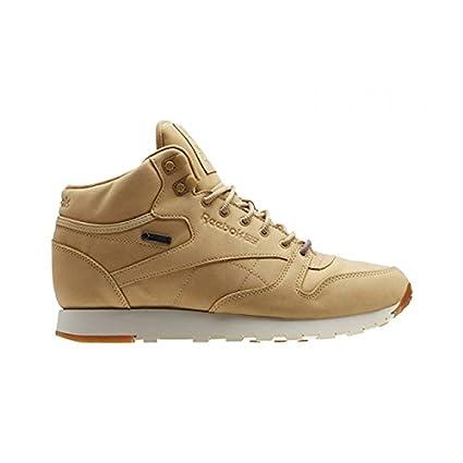 2ecc8020ebe Reebok Men s CL LTHR Mid GTX Thin Beige Paper White Gum – Lifestyle Shoes