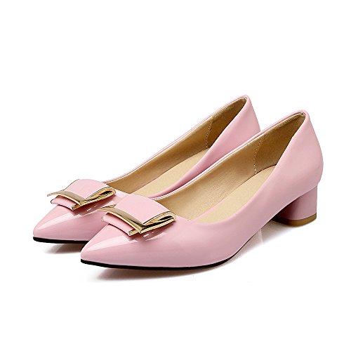 Qin&X Bloque de la Mujer Señaló la convergencia Boca Superficial Zapatos,Rosa,40
