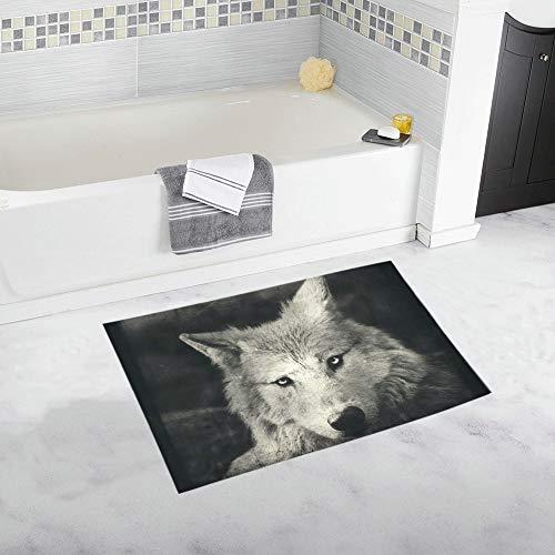 Awesome Halloween Wallpaper Mystical Wolf Custom Non-Slip Bath Mat Rug Bath Doormat Floor Rug Bathroom 20 X 32 Inch for $<!--$23.50-->