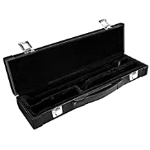 Neewer Portable Hard Case, Protective Gig Bag for Western Concert Flute(16 Holes C Tone Flute) with Metal Buckle, Leather Cover, Foam Cotton Padded, 8x4x2.4 inches/20x10x6 centimeters (Black)