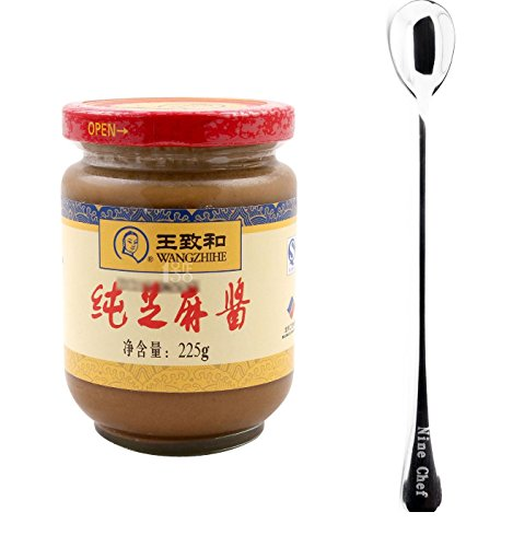 Sesame Paste - Wang Zhihe Pure Sesame Paste + Free one NineChef Spoon (1 Bottle)