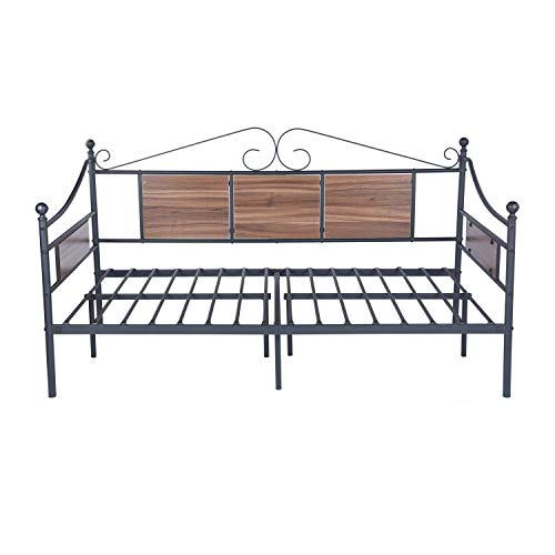 twin size wooden bed frame - 8