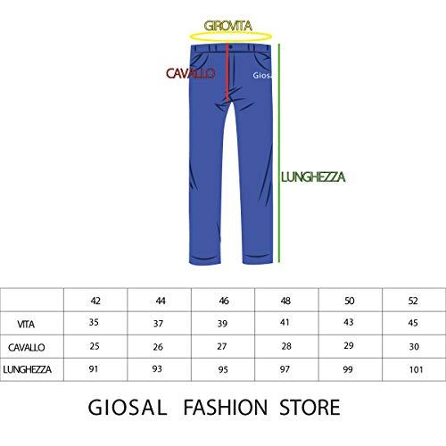 Cinque Catena Macchie Tasche Giosal Denim Cotone Pittura Pantalone Uomo Rotture Jeans 0xwqwUT68