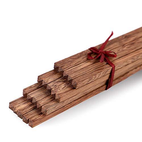 - Unichart Chinese Chopsticks Reusable Ebony Organic Natural Wood Chopsticks 10 pairs Set without Paint Dishwasher Safe, Khaki