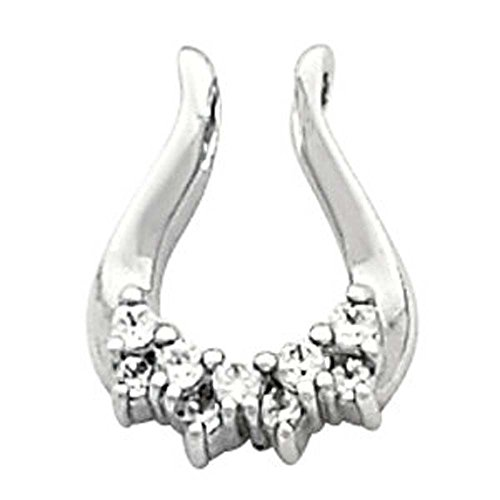 Pendant Enhancer Mounting in 14k White Gold by Banvari