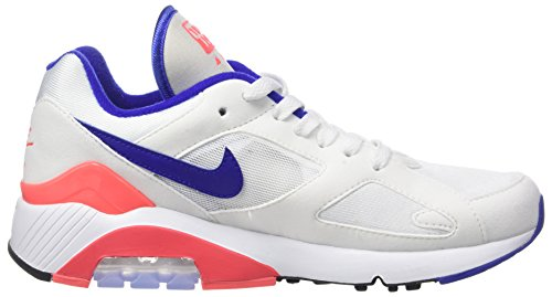 Nike Womens Wmns Air Max 180, Bianco / Blu Oltremare, Rosso-nero, 9,5 Us