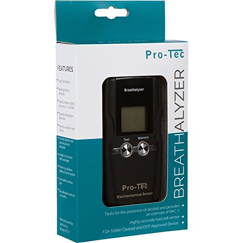Pro-Tec X2000 breathalyzer | Portable Professional Grade Blood Alcohol screening Device | DOT and NHSTA Approved FDA 510(k) Cleared | Breath Meter by Pro-Tec Breathalyzers (Image #5)