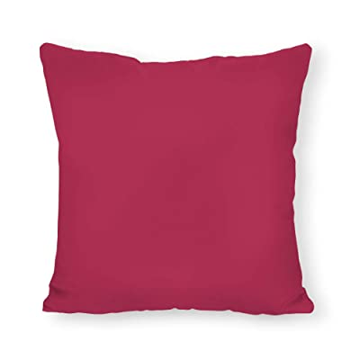 FabricMCC Hot Pink Outdoor Throw Pillow Cover, Solid Linen Pillow Cover, Pink Pillow Cover, Hot Pink Outdoor Pillow, Outdoor Cushion Cover 20 x 20 Inch: Home & Kitchen