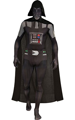 Rubie's Costume Star Wars Darth Vader 2nd Skin Full Body Suit, Black, Medium (Darth Vader Suit For Sale)