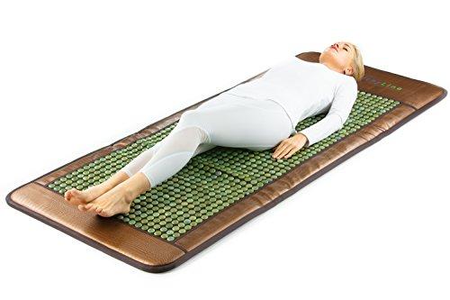 HL HEALTHYLINE - Far Infrared Heating Mat - 76inL x 32inW (Firm) - Jade Hot Stone - Negative (Mini Jade Infrared Mat)