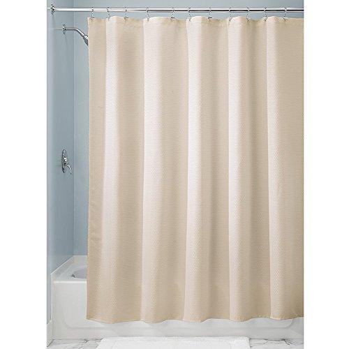 InterDesign Paxton Fabric Shower Curtain, Luxury Hotel - Long 72 x 84, Sand