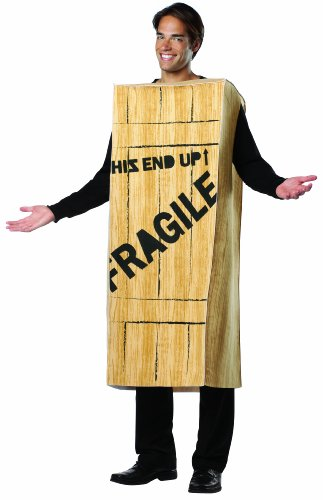 Rasta Imposta A Christmas Story Fragile Wooden Crate Costume, Tan, One Size -