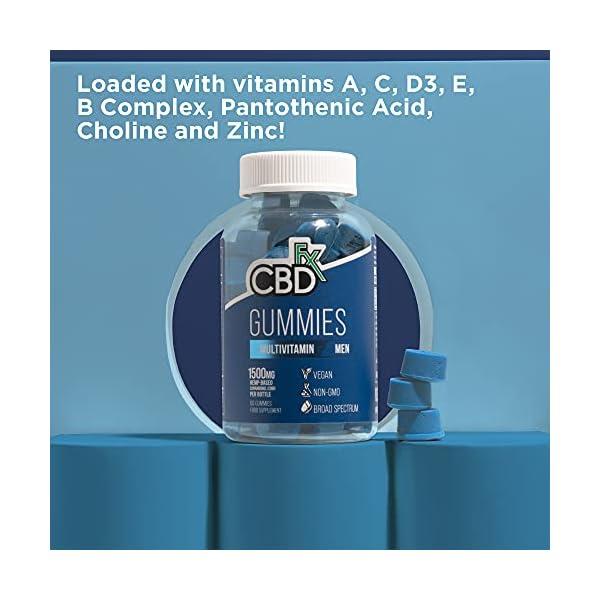 CBDfx Men's Multivitamin CBD Gummies (60 Gummy Bottle) – 1500mg