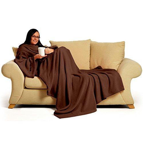 Snug~Rug Deluxe Coral Fleece. The Blanket with Sleeves, Adult 60' x 84' -...