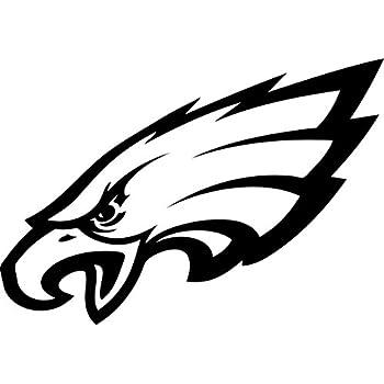 Amazon Com Philadelphia Eagles 8x8 White Team Logo Decal