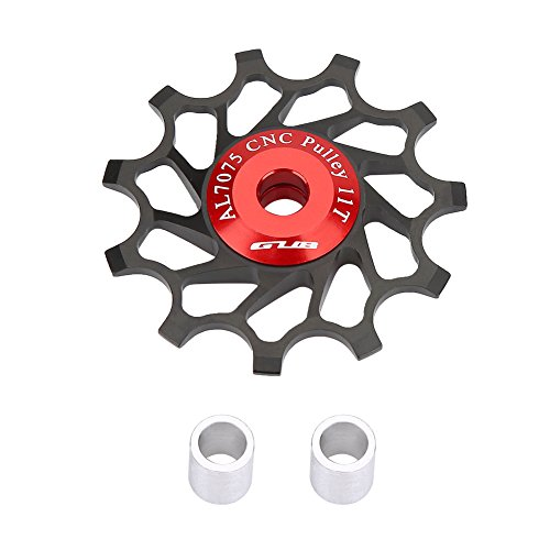 2pcs 11T Bike Aluminum Alloy Bearing Jockey Wheel Rear Derailleur(Black) - 7