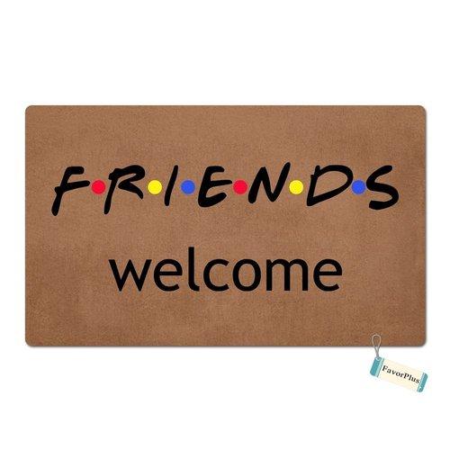 FavorPlus Friends Welcome Funny Entrance Custom Doormat Door Mat Machine Washable Rug Non Slip Mats Bathroom Kitchen Decor Area Rug 15.7X23.6 Inch ()