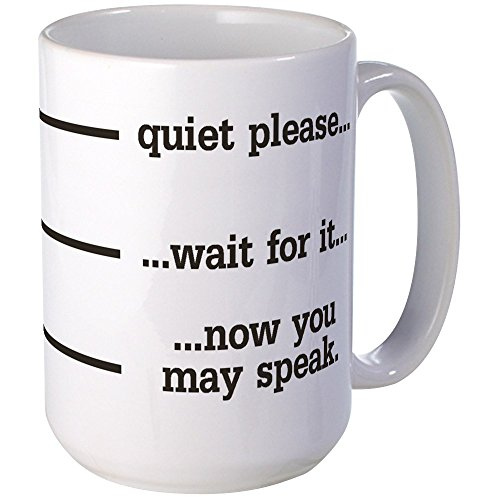 CafePress Quiet Please Coffee Large