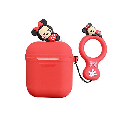 UR Sunshine AirPods Case Super Cute Funny Lying Cartoon Animal Soft Silicone Case Cover Protective Skin for AirPods1//AirPods 2+Lanyard-Stitch