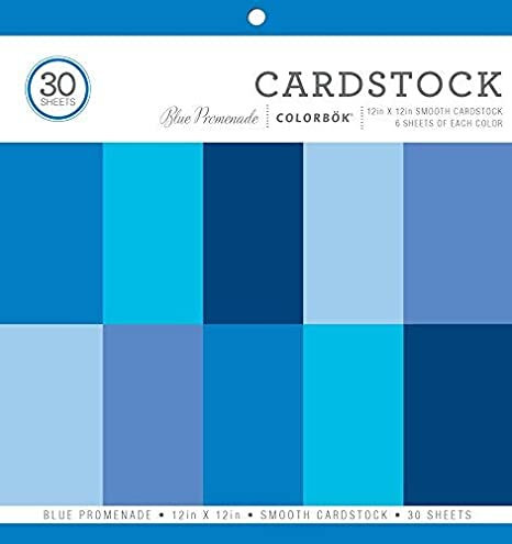 12 x 12 Inches Smooth Cardstock Paper Pad Colorbok Primary
