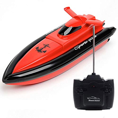 SZJJX RC Boat Remote Control Racing Boat High Speed Electric 4 Channels for Pools, Lakes and Outdoor Adventure Kids Toy JX800 Red