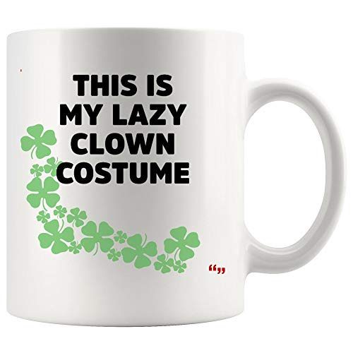 Best Gag Mug Coffee Cup - Family Gift This Is Lazy Clown Costume Hilarious Halloween Sport Joke Novelty Gifts for Friend