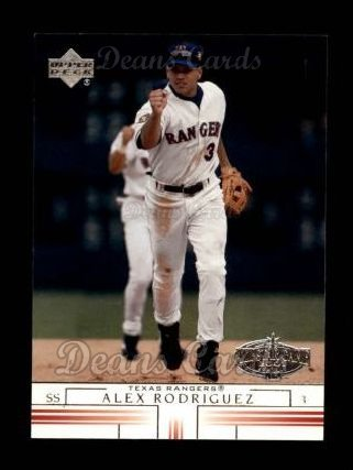 2002 Upper Deck # 149 Alex Rodriguez Texas Rangers (Baseball Card) Dean's Cards 8 - NM/MT Rangers